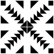 Custom Zig Zag Black Vinyl Tile Stickers for Evelien