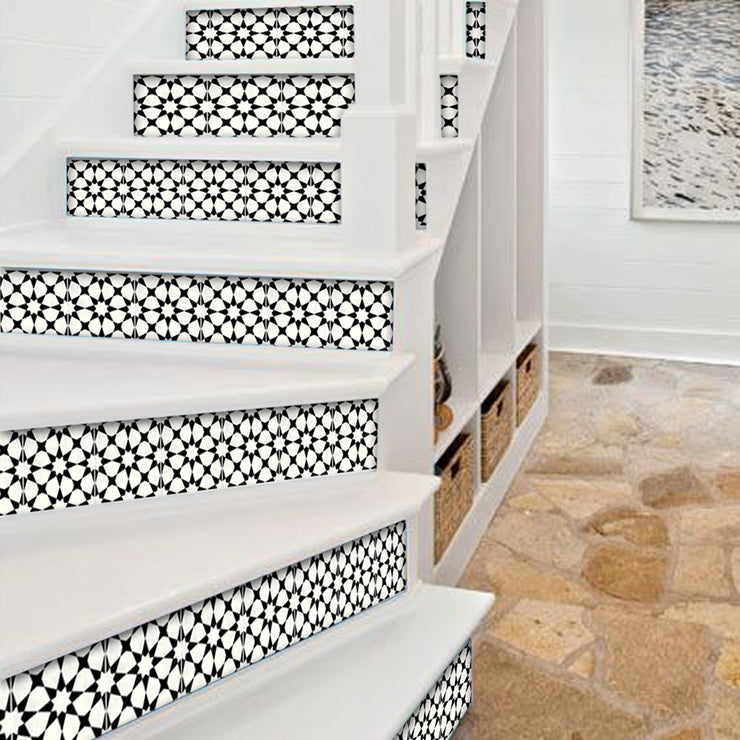 Agadir in Black Stair Riser Stickers