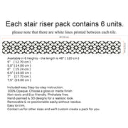 Stair Riser Stickers - Stair Riser Tile Decals - Agadir in Black