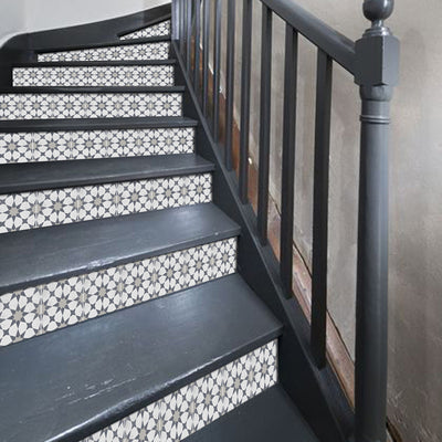Agadir in Grey Stair Riser Stickers