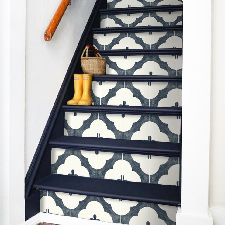 Claude in Navy Stair Riser Stickers