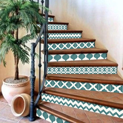 Marrakech Mix Stair Risers in Emerald Green