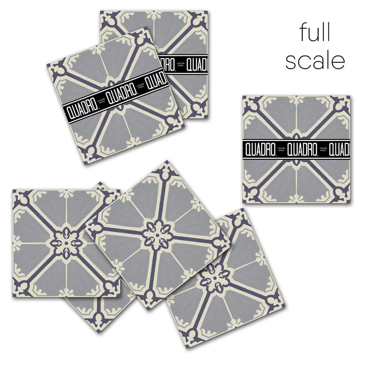 Vinyl Floor Tile Sticker - European Samsara in Grey