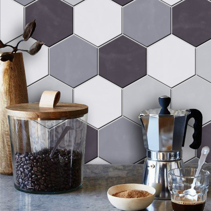 Removable Vinyl Wall Decal Hexa in Carbon