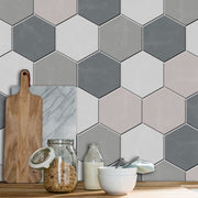 Removable Vinyl Wall Decal Hexa in Smoke