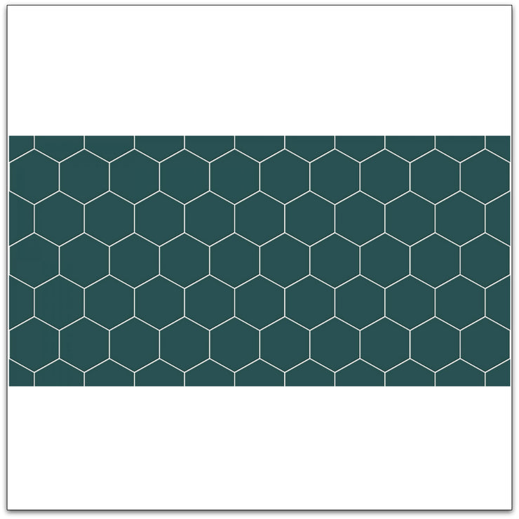 Hexa in Peacock Green Wallpaper