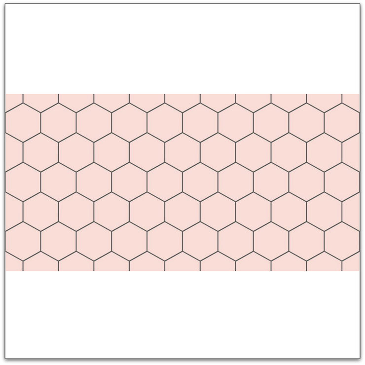 Removable Vinyl Wall Decal Hexa in Rose