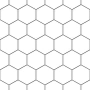 Hexa in Pure White Floor Sticker