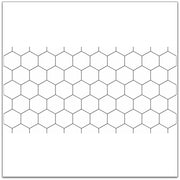Hexa in Pure White Wallpaper