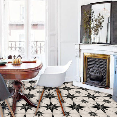 SALE! Vinyl Floor Tile Sticker Panel of 60 x 120 cm size  - Astra Black