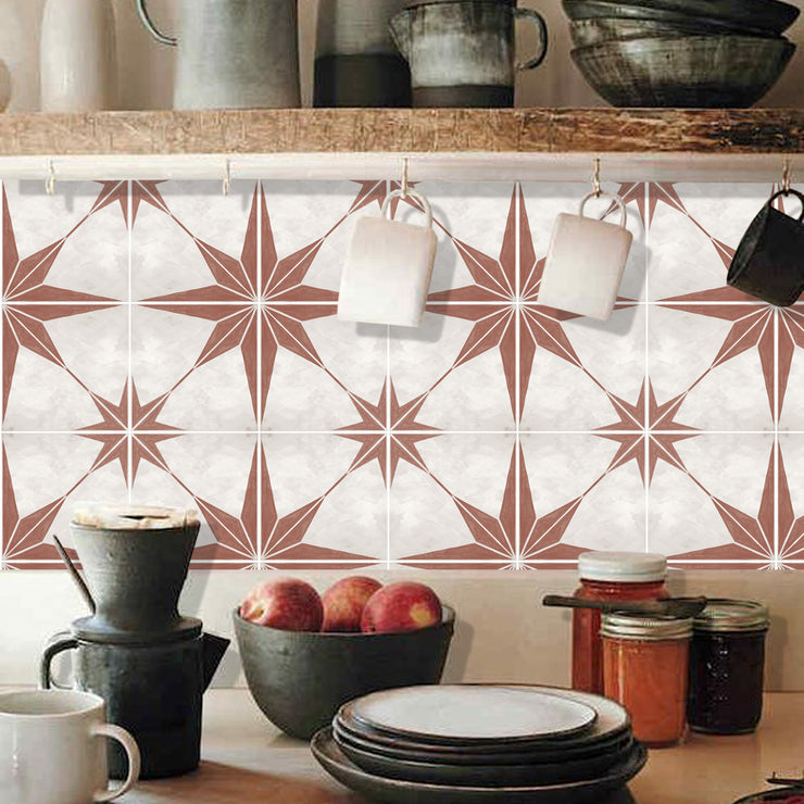 Astra in Tiera Red Vinyl Tile Sticker