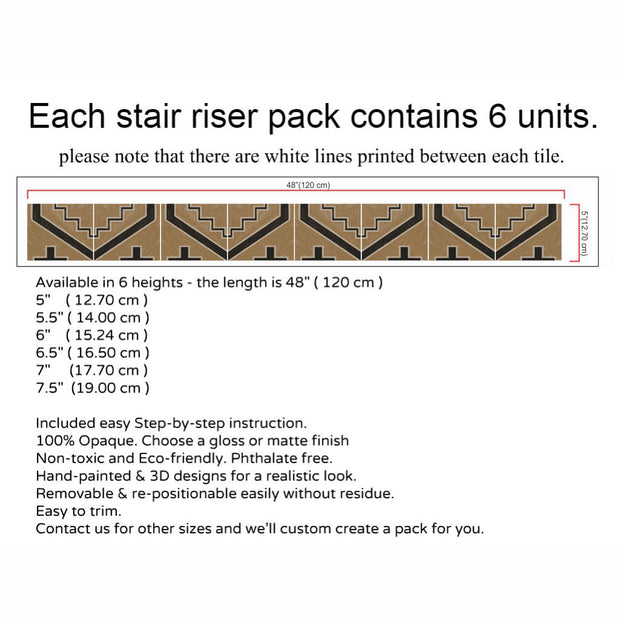 Canyon Stair Riser Stickers