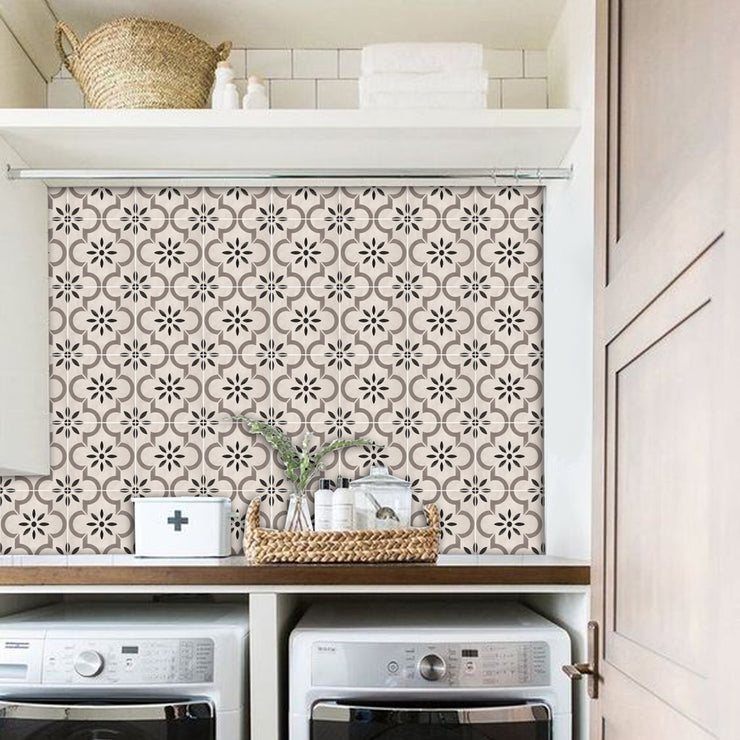 Sticker Splash back in Marta Taupe - Removable Vinyl Wall Decal