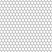 Mini Hexa in Pure White Wallpaper