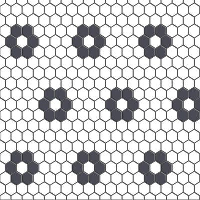 Mini Hexa Flower Floor Sticker