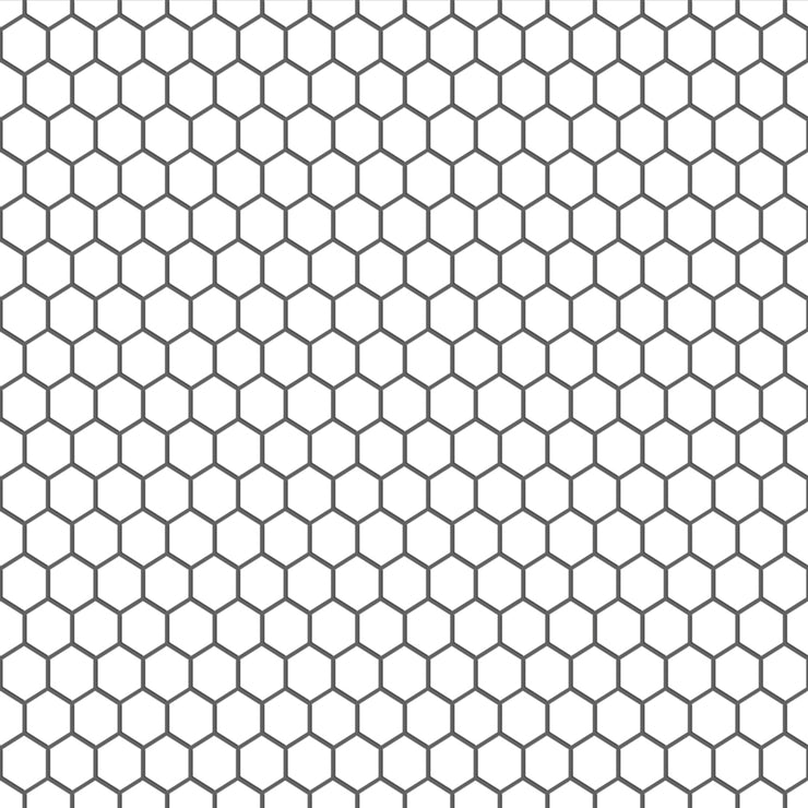 Mini Hexa in Pure White Floor Sticker