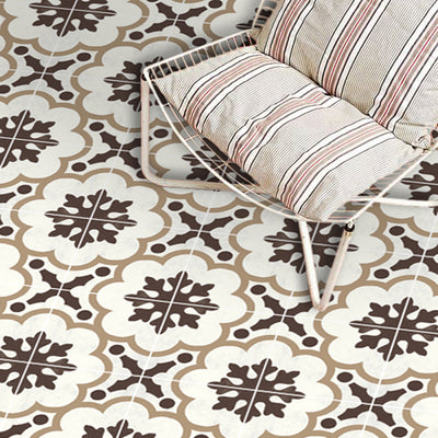 Vinyl Floor Tile Sticker - European Genova in Greige