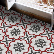 Vinyl Floor Tile Sticker - European Genova in Rouge