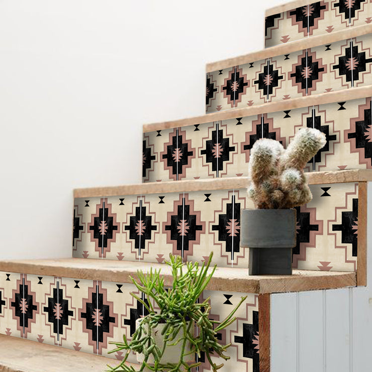 Navajo Stair Riser Stickers
