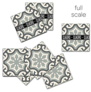 Vinyl Floor Tile Sticker - Palermo Pearl Grey