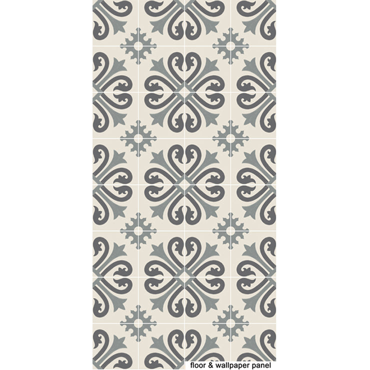 Vinyl Floor Tile Sticker - Alhambra Thistle