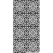 Vinyl Floor Tile Sticker - Corona Black