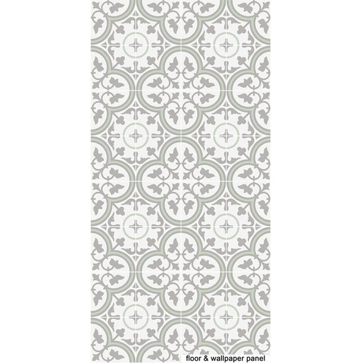 Vinyl Floor Tile Sticker - Trefle Thistle
