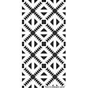 Vinyl Tile Sticker Kitchen, Bathroom & Floors in Zig Zag Black