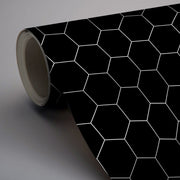 Removable Vinyl Wall Decal Hexa in Ebony