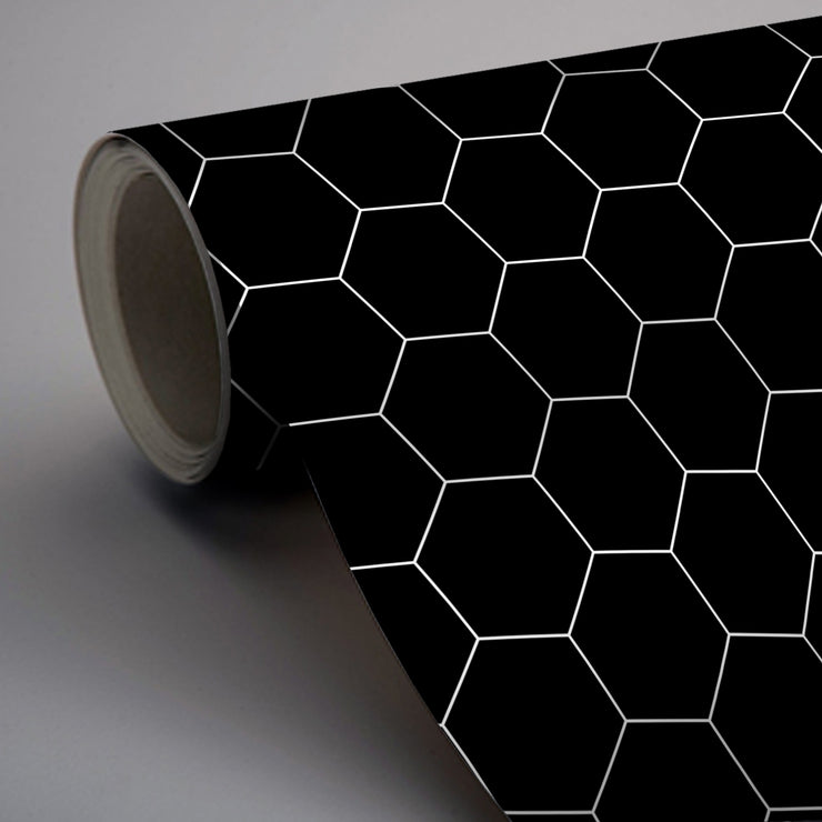 Hexa in Ebony Wallpaper