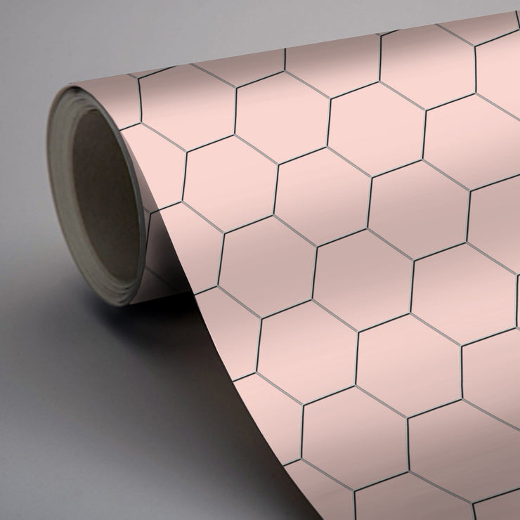 Hexa in Rose Wallpaper