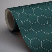 Removable Vinyl Wall Decal Hexa in Peacock Green
