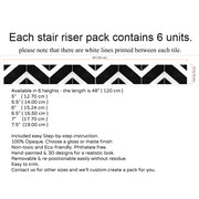 Salon in Black Stair Riser Stickers