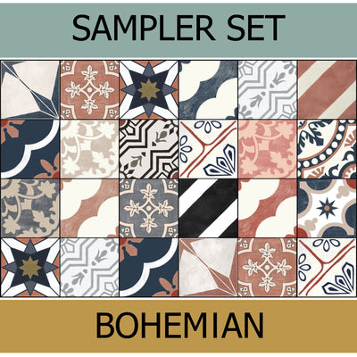 Quadrostyle 19 Bohemian Collection Tile Sticker Sampler Set inc. Free Shipping