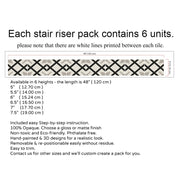 Stair Riser Stickers - Stair Riser Tile Decals - Asterix