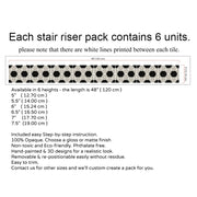 Stair Riser Stickers - Stair Riser Tile Decals - Centaur