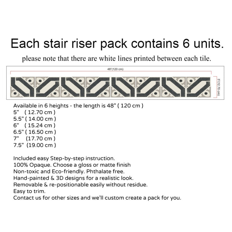 Jocasta Stair Riser Stickers