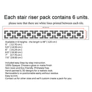Omega Stair Riser Stickers