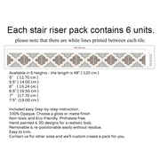 Stair Riser Stickers - Stair Riser Tile Decals - Shala