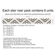 Stair Riser Stickers - Stair Riser Tile Decals - Zeus
