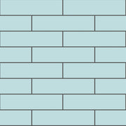 Removable Vinyl Wall Decal Subway in Duck Egg Blue
