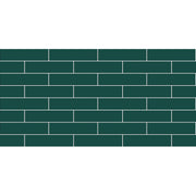 Removable Vinyl Wall Decal Subway in Peacock Green