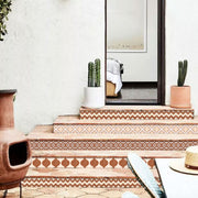 Marrakech Mix Stair Risers in Terracotta
