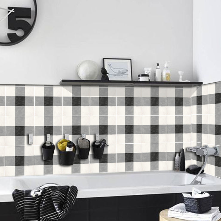 Splash back in Vichy Black - Removable Vinyl Wall Decals