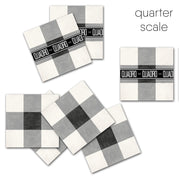 Vinyl Tile Sticker in Vichy Black for Kitchens, Bathrooms & Floors