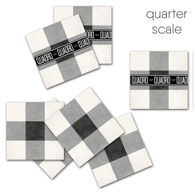 SALE - Vichy Vinyl Tile Sticker Pack - 24 pcs pack in 20 cm size