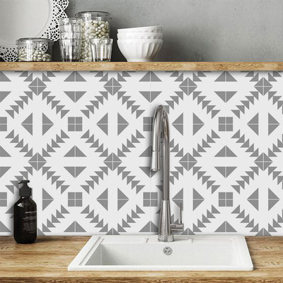 Removable Wallpaper in Zig Zag Grey