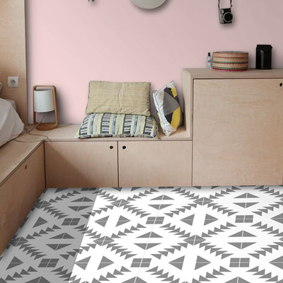 Zig Zag in Grey Floor Sticker