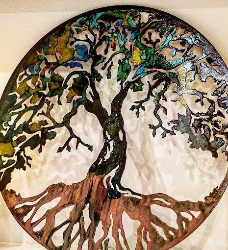 Metal Tree Tree Art Metal Wall Art Metal Tree Art Family Tree