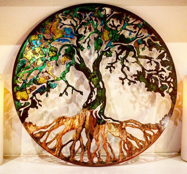 38103c9965 Metal Tree, Tree art, Metal wall art, Metal tree art, Family tree ...